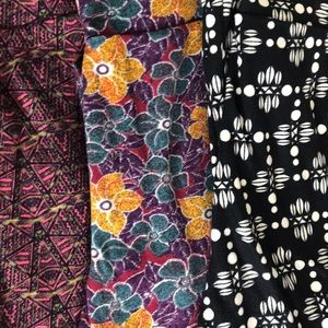 LuLaRoe Pants - Bundle of 3 LuLaRoe Leggings one size